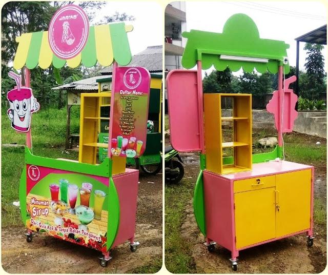 Booth Portable,Gerobak bongkar pasang