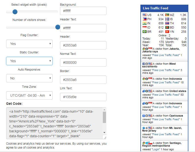 widget alternatif pengganti feedjit untuk blog atau wordpress