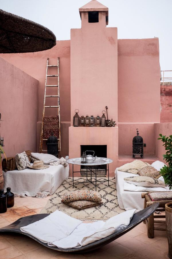 Rosada terraza en Marrakech