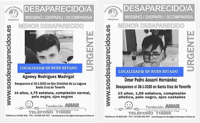 Los dos menores desaparecidos en Tenerife, localizados en buen estado