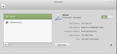 Konfigurasi ip dhcp di linux mint