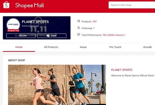 Planet Sports on Shopee
