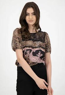 Liu Jo - Дамска сатинирана Блуза с дантела