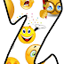 Abecedario de Emojis o Emoticonos. Emoji Alphabet.