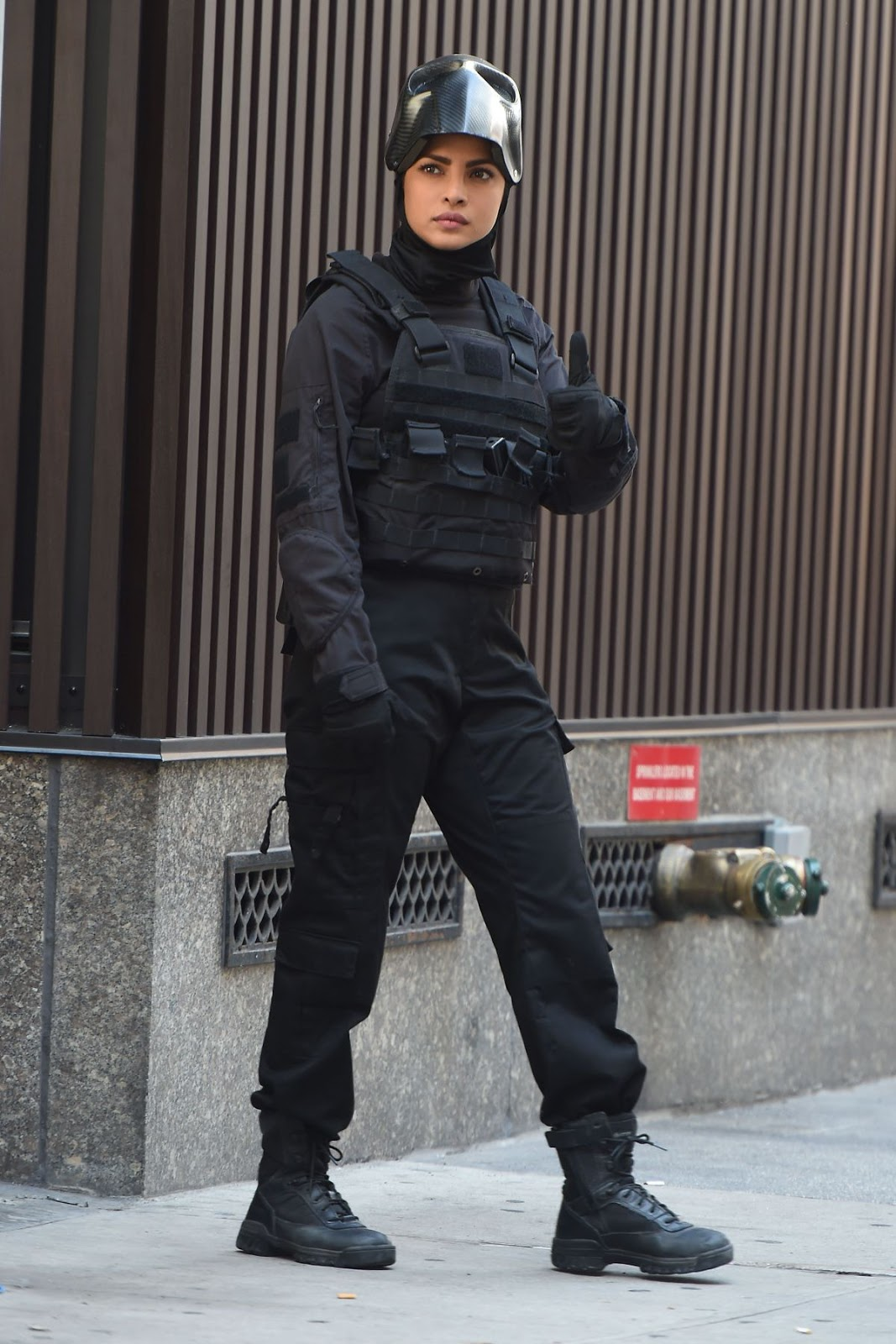 Priyanka Chopra on The Set of Drama Series Quantico in New York