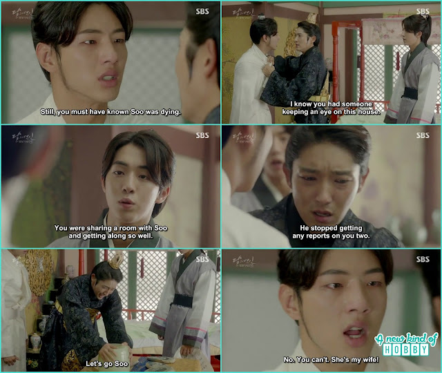baek ah told you were sharing a room with Hae Soo that why wang so remove the spy  - Moon Lovers Scarlet Heart Ryeo - Episode 20 Finale (Eng Sub)