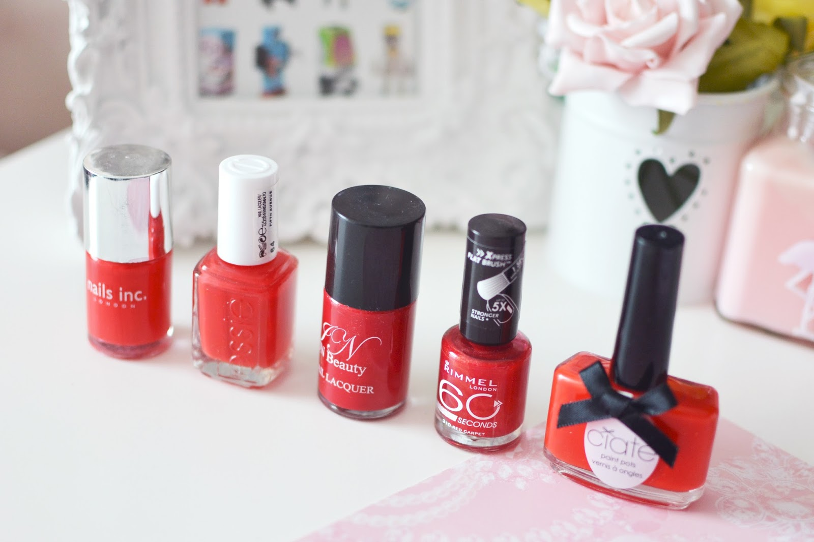 best red shade nail polish