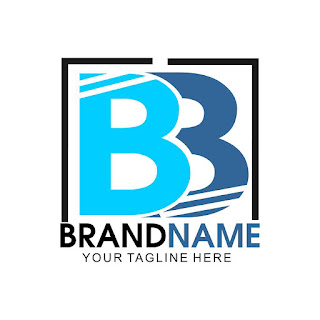 BB Stripes Letter Logo Template Free Download Vector CDR, AI, EPS and PNG Formats