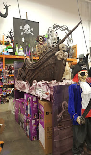 A haunted pirate ship at Home Depot