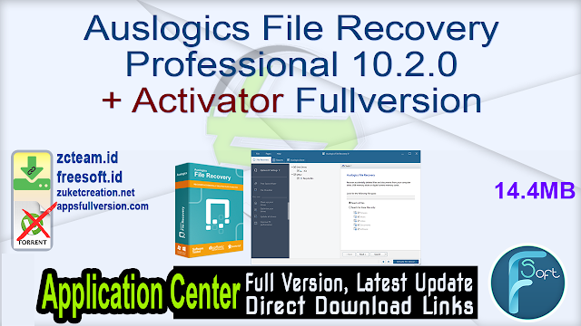 Auslogics File Recovery Professional 10.2.0 + Activator Fullversion