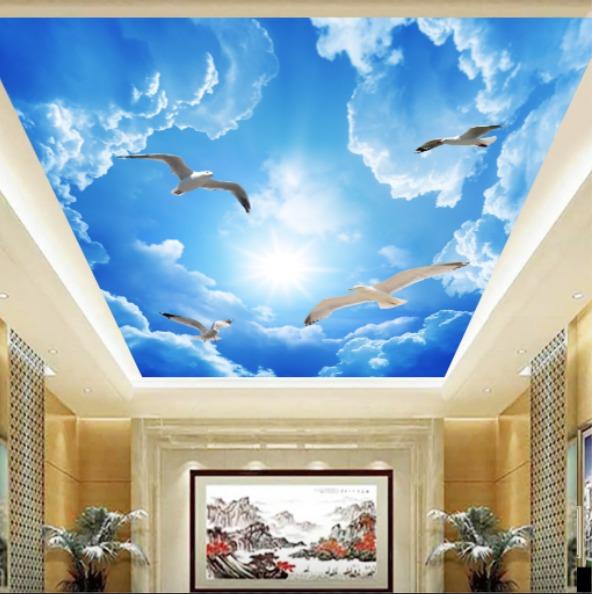 gambar awan yang bagus dengan burung