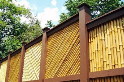 desain pagar bambu