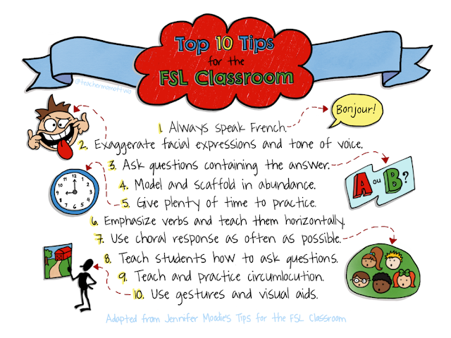 Top 10 Tips for the FSL Classroom #AIMlang