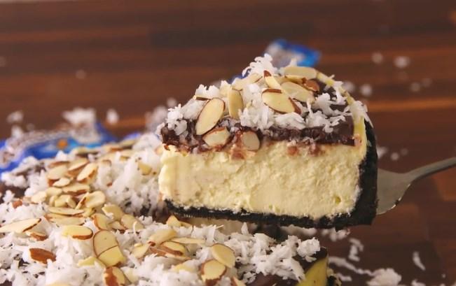 Almond Joy Cheesecake #cake #desserts