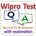Wipro Written Test: Aptitude, Reasoning, English; Questions and Answers with Explanations PDFs