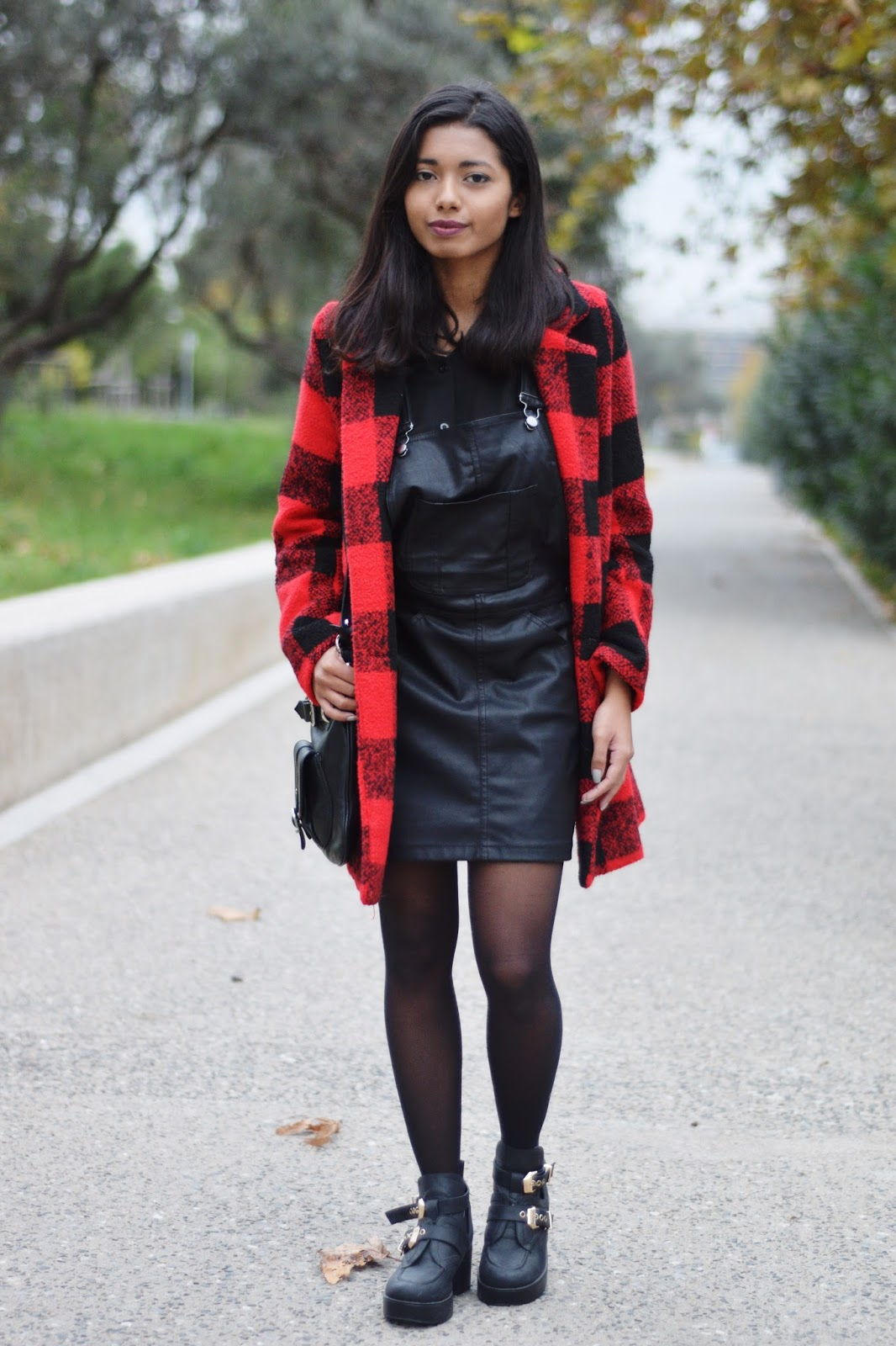 how to style plaid coats in winter