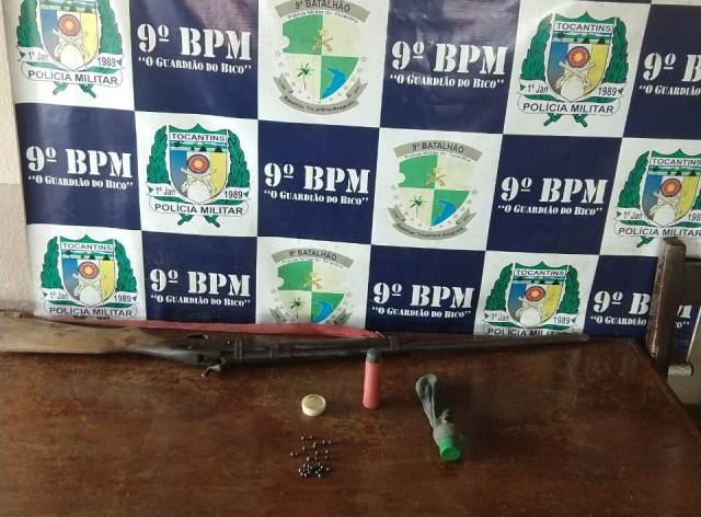 PM apreende arma de fogo em Augustinópolis