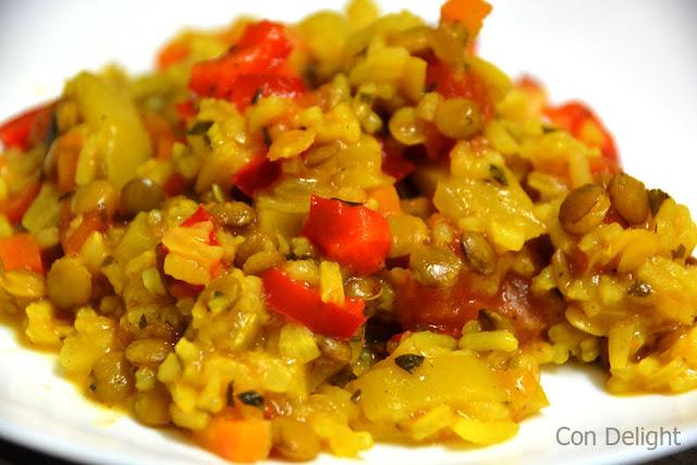 אורז ושלל ירקות rice and veggies