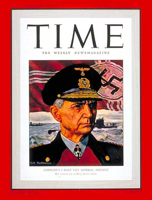 Admiral Doenitz on the cover of Time magazine on 2 February 1942 worldwartwo.filminspector.com