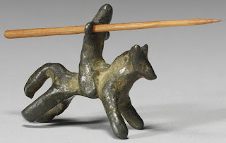 Bronze toy-knight
