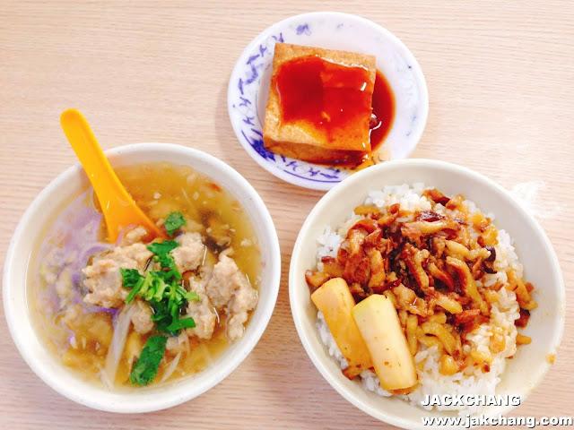 肉羹湯、滷豆腐