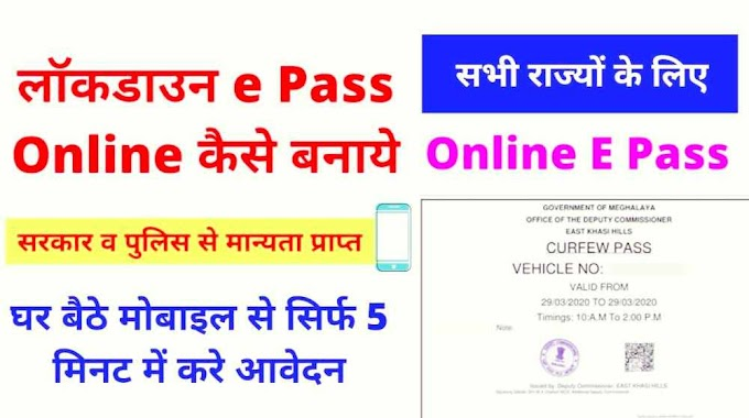 How To Apply LockDown E Pass Online Step by Step Guides