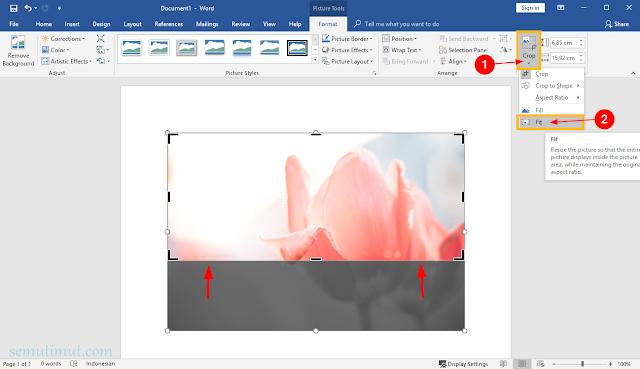 cara memotong gambar di microsoft word