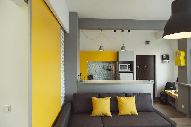 Proiect de amenajare pentru un apartament de 45 m² din București