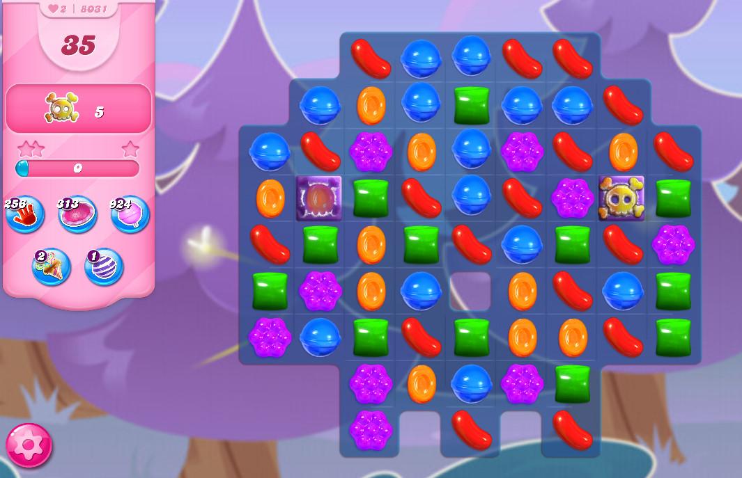 Candy Crush Saga level 8031