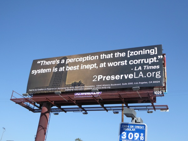 2 Preserve LA zoning system corrupt billboard