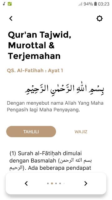 Qur'an Android Studio Lengkap Tajwid, Audio Mp3