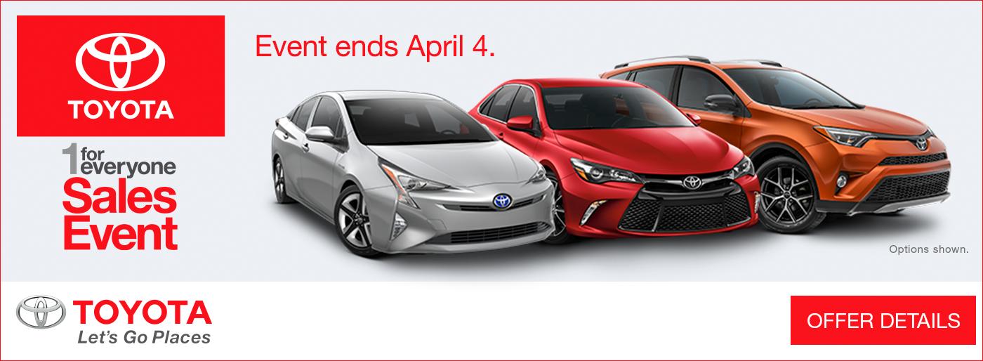 Hanlees Davis Toyota >> Hanlees Auto Group: 1 for Everyone Sales Event at Hanlees ...