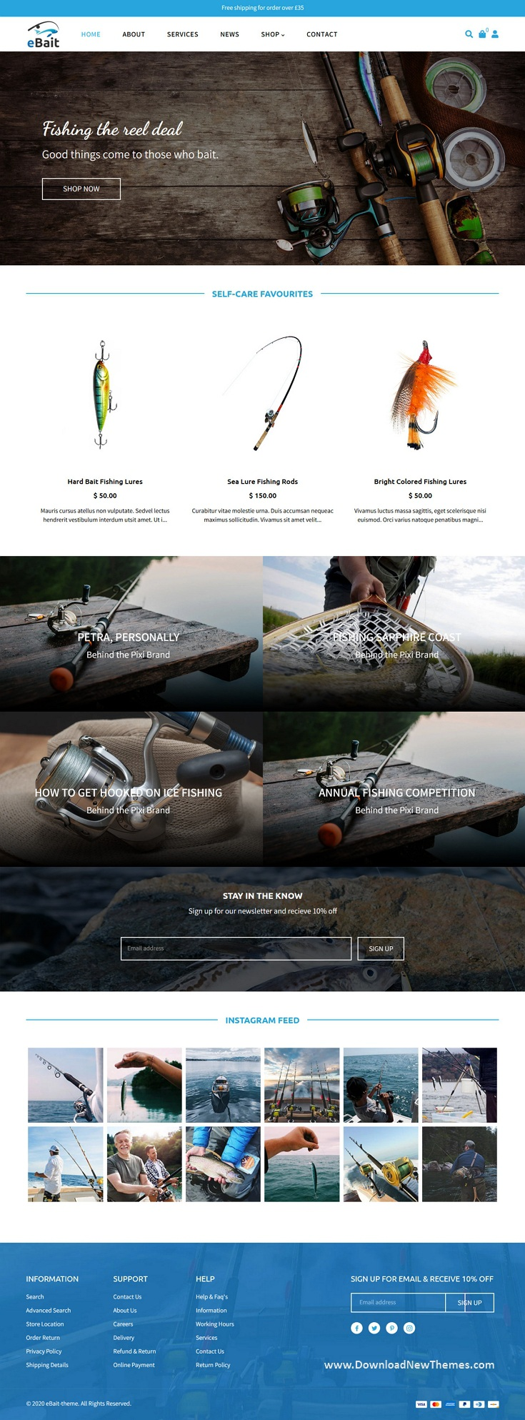 Hunting, Fishing Shop Shopify Theme