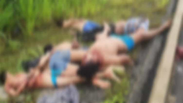 Las Imagenes de los 6 cuerpos encontrados en Tabasco en la Zona del Huachicolero llamado El Kalimba