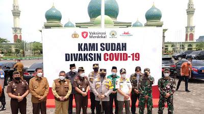 Polda Riau Gelar Vaksin Merdeka, Satu Hari 5.150 Dosis Vaksin  Melibatkan 210 Nakes