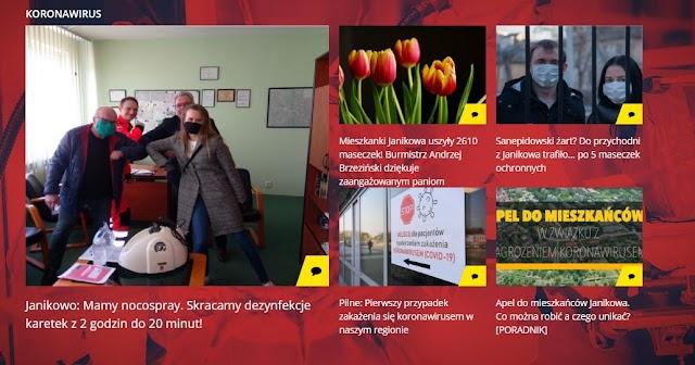 Nowy dział tematyczny na portalu infromacyjnym w Janikowie. W całości  poświęcony koronawirusowi