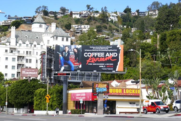 Coffee and Kareem Netflix billboard