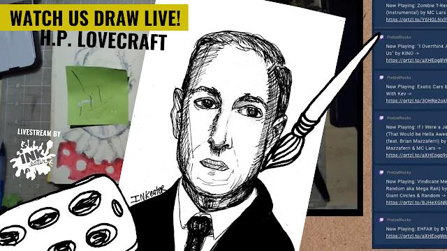 We Drew H.P. Lovecraft! - Live Timelapse