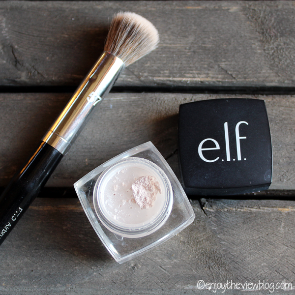 e.l.f. HD undereye setting powder and makeup brush
