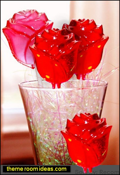 ROSE Lollipops- Hard Candy Favors