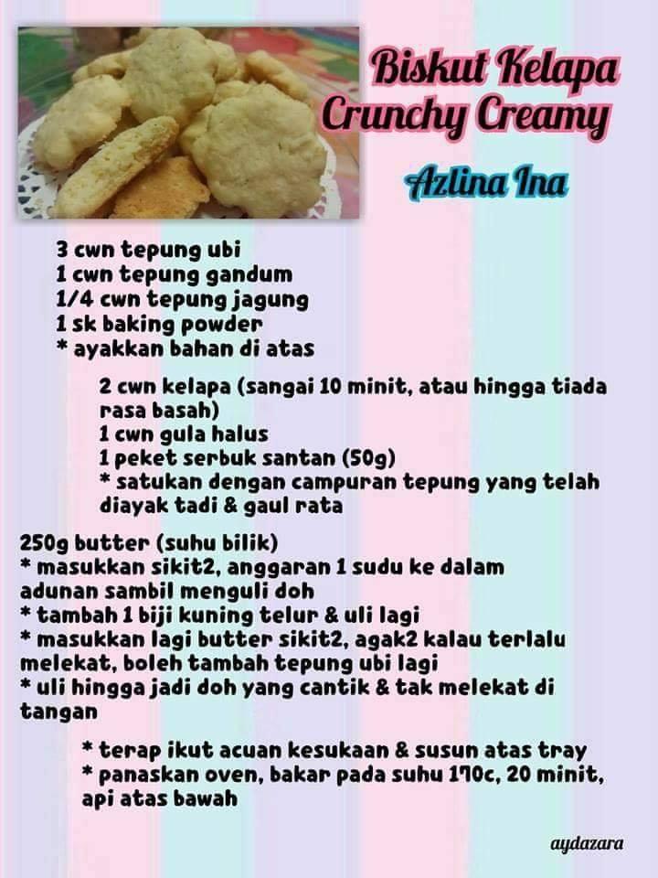 resepi biskut kelapa