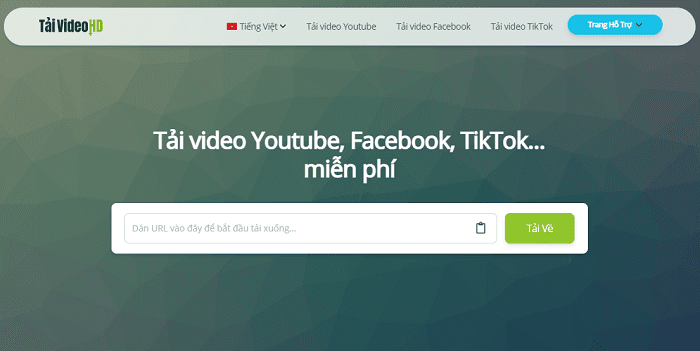 Cách tải video Youtube, Facebook, TikTok online
