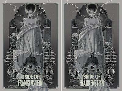 "Universal Monsters ""Bride of Frankenstein"" Screen Print by Vance Kelly x Bottleneck Gallery"