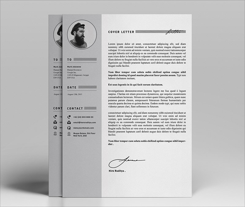 Template Resume CV 2018 - Free Professional Resume Template 2018 in PSD & Ai Format