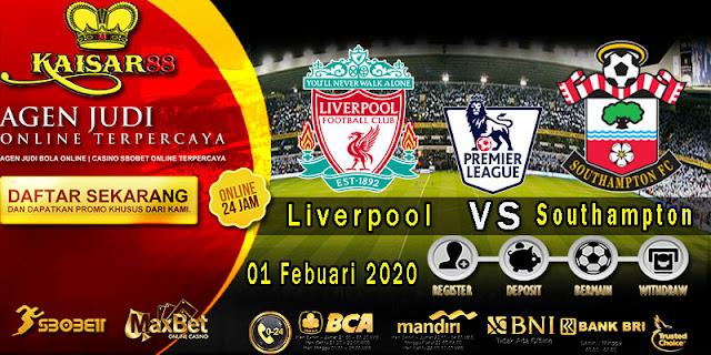Prediksi Bola Terpercaya Liga Inggris Liverpool vs Southampton 01 Febuari 2020