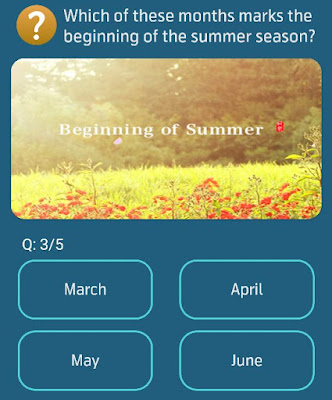Which of these months marks the beginning of the summer season?