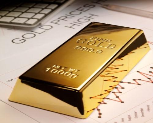 Precio del oro baja