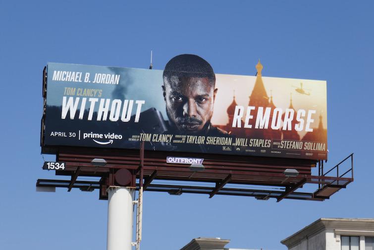Without Remorse movie billboard
