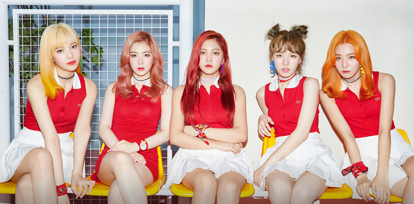 Red velvet russian roulette photoshoot