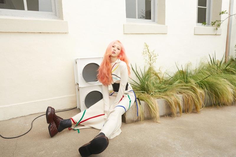South Korean singer-songwriter HyunA poses for LOEWE.